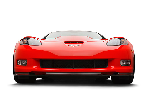 VET 01 BK0016 01 © Kimball Stock 2013 Chevrolet Corvette ZR1 Red Front View On White Seamless