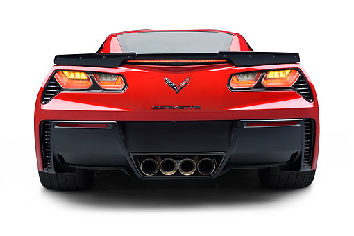 VET 01 BK0053 01 © Kimball Stock 2015 Chevrolet Corvette Z06 Supercar Rear View In Studio