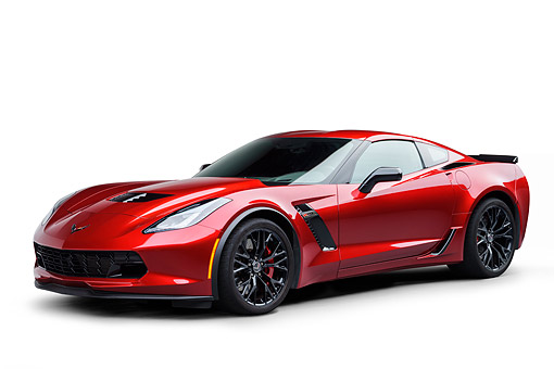 VET 01 BK0055 01 © Kimball Stock 2015 Chevrolet Corvette Z06 Supercar 3/4 Front View In Studio