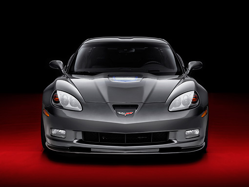 VET 01 RK0913 01 © Kimball Stock 2009 Chevrolet Corvette ZR1 Black Front View Studio