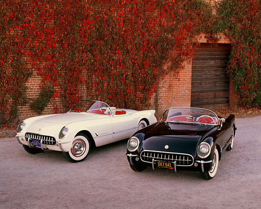 1954 and 1953 black and white chevrolet corvette convertible on 1954 Corvette Convertible kimballstock vet 02 rk0191 02 preview