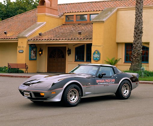 VET 05 RK0058 01 © Kimball Stock 1978 Chevrolet Corvette Indy Pace Car.