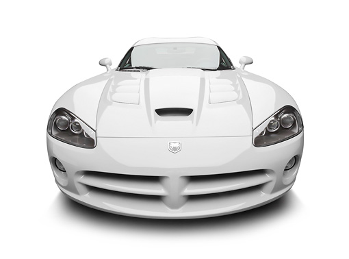 VIP 01 BK0035 01 © Kimball Stock 2009 Dodge Viper SRT/10 White Front View On White Seamless