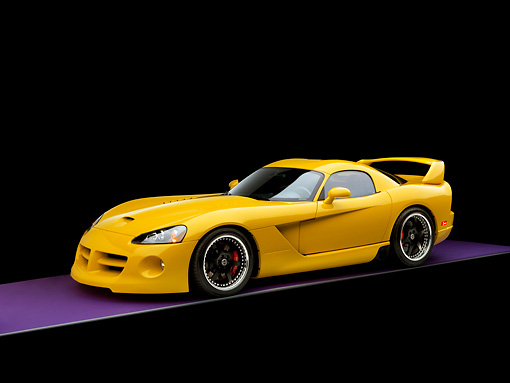 VIP 01 RK0244 01 © Kimball Stock 2006 Hennessey Venom 800R Yellow 3/4 Side View Studio